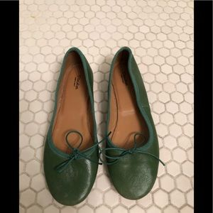 Shoes - Green italian leather flats